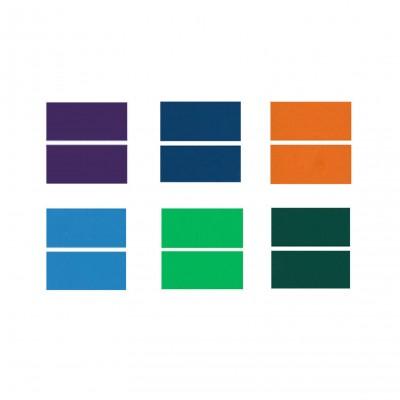 "XLNT TECH Engraving Double Color Sheet ( 8"" x 8"" x .040"", 12 Pieces & 6 Colors) for Interior Signs, Badges."