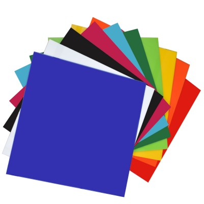 "XLNT 10 Pieces & 10 Colored Acrylic Plastic Sheet 12 x 12 Inch (.118"" Thick)(no-Transparent, For Signs, DIY Projects)"